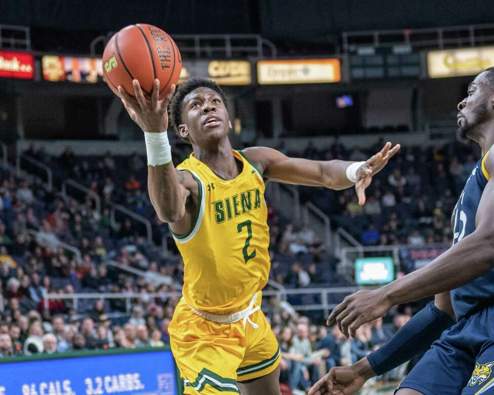 Siena freshman Gary Harris Jr. drives to the basket against Quinnipiac at the Times Union Center in Albany NY on Sunday, Jan. 26, 2019 (Jim Franco/Special to the Times Union.)