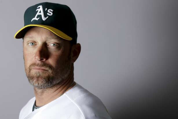 This is a 2016 photo of Mark Kotsay of the Oakland Athletics baseball team. This image reflects the Oakland Athletics active roster as of Monday, Feb. 29, 2016, when this image was taken. (AP Photo/Chris Carlson)