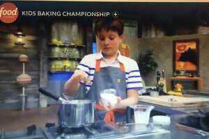 "Sam Occhiogrosso, 11, or West Hartford, has made it through three episodes on the reality show ""Kids Baking Championship,"" airing Monday nights at 9 p.m. on the Food Network."
