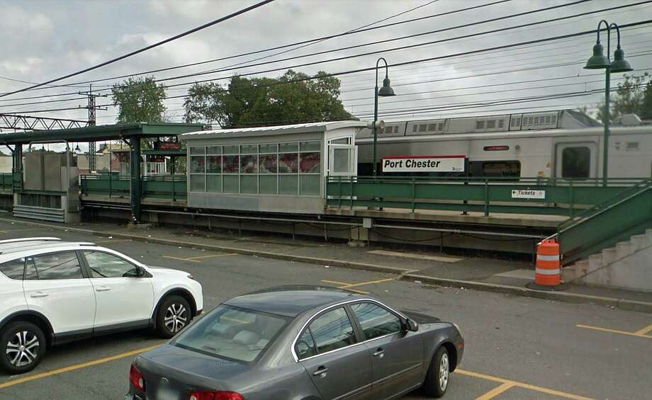 A man was struck and killed by a Metro-North train near the Port Chester, N.Y. station late Sunday night on Jan. 26, 2020. The person, who was not identified, was struck around 10:20 p.m. by a train out of Stamford bound for Grand Central Terminal. Photo: Google Street View Image