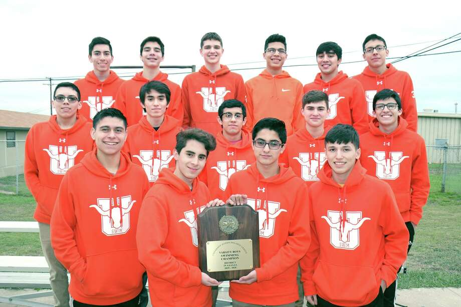 The United boys' swim team won its third straight district title two weeks ago. Photo: Cuate Santos /Laredo Morning Times / Laredo Morning Times