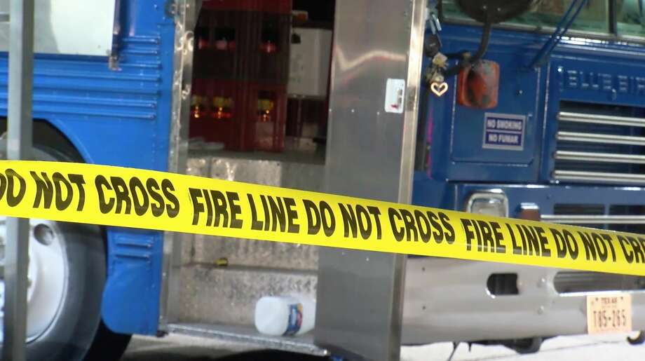 Authorities investigate a taco truck where three workers were hospitalized after a flash fire Sunday, Jan. 26, 2020. Photo: OnScene.TV
