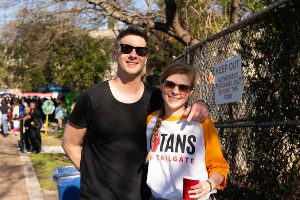 San Antonians gathered Sunday for craft beers and classic tailgating games at the Sunken Garden Theater for Titans of Tailgate.