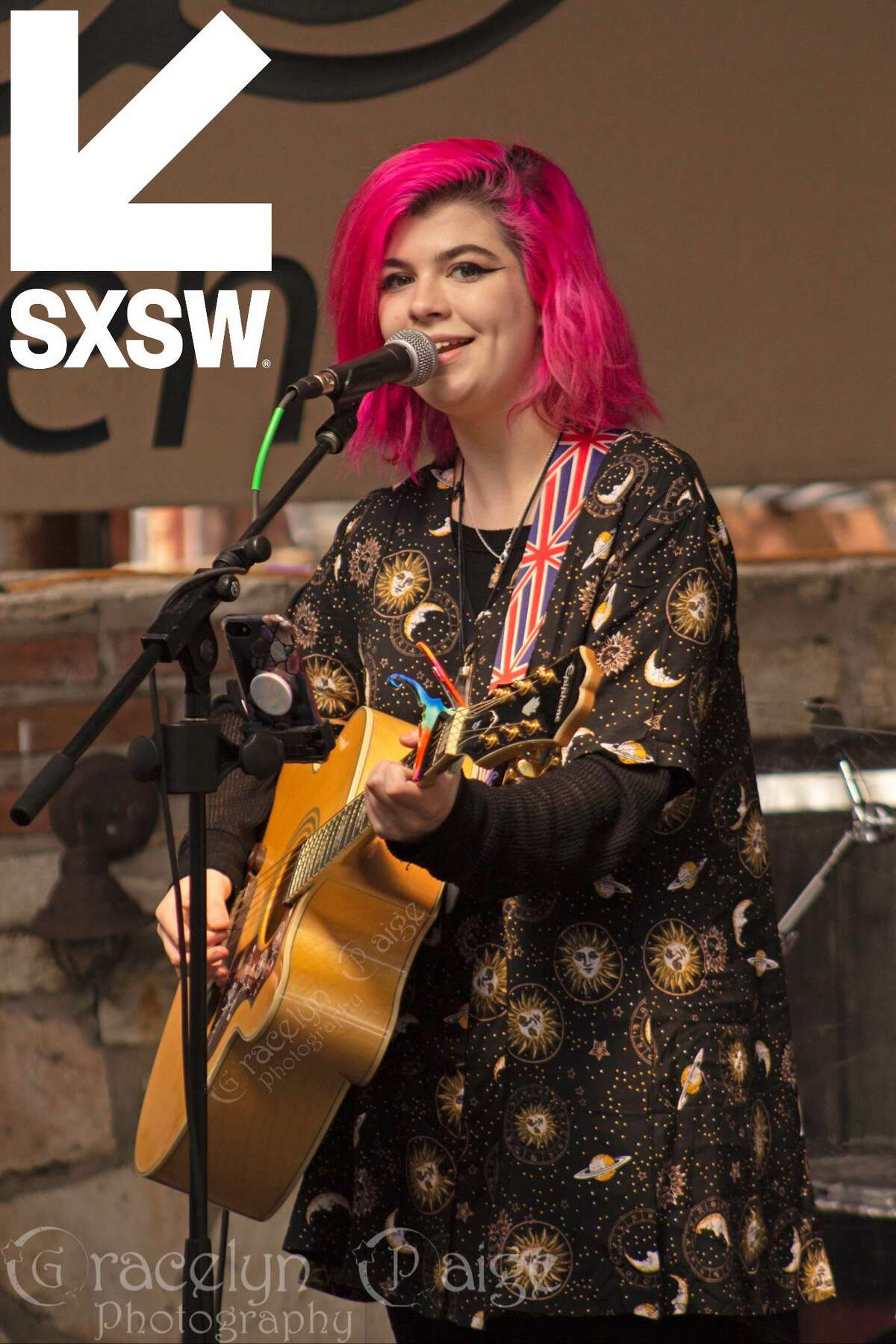 Emily Cole performing at an event during SXSW in Austin.