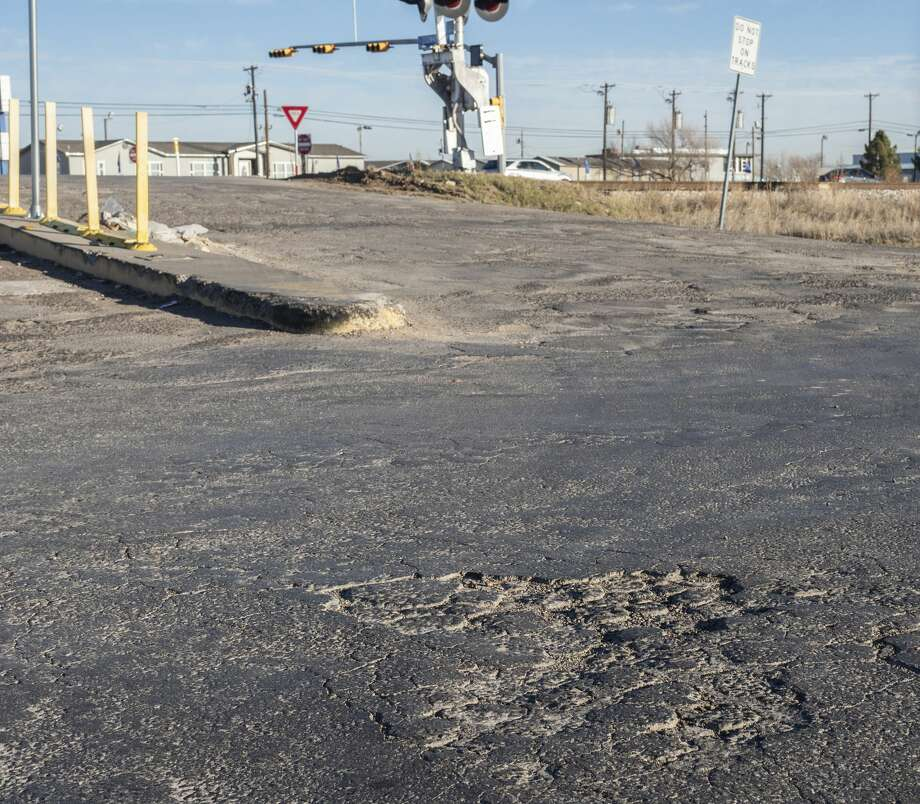 Industrial Road, on the southside of the railroad tracks, has been in need of service for years. 01/27/2020 Tim Fischer/Reporter-Telegram Photo: Tim Fischer/Midland Reporter-Telegram