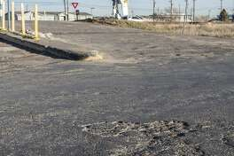 Industrial Road, on the southside of the railroad tracks, has been in need of service for years. 01/27/2020 Tim Fischer/Reporter-Telegram