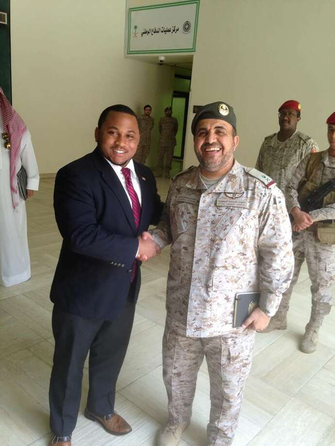 In the Middle East, conservative Brandon Batch meeting Saudi military officials helping advance key policies to keep Americans safe abroad and at home. Photo: Courtesy Photo
