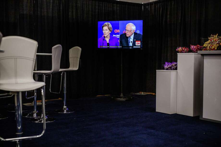 During the last Democratic debate, Sens. Elizabeth Warren and Bernie Sanders had heated words over whether Sanders said a woman couldn't win the presidency. Sanders' record of disrespecting female candidates should not be ignored. Photo: Jordan Gale /New York Times / NYTNS