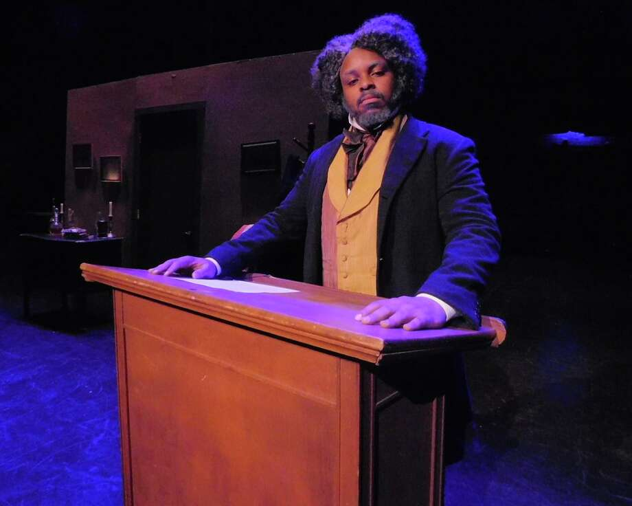 "Tenisi Davis appears as Frederick Douglass in ""Frederick Douglass: An American Slave,"" onstage at The Klein in Bridgeport, Feb. 6. Photo: Jeanette Zygmunt / Contributed Photo"