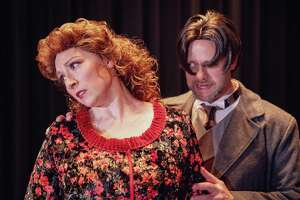 "Roxie Quinn and Tim Reilly appear in ""Jekyll & Hyde,"" onstage at Torrington's Warner Theatre Feb. 1-9."