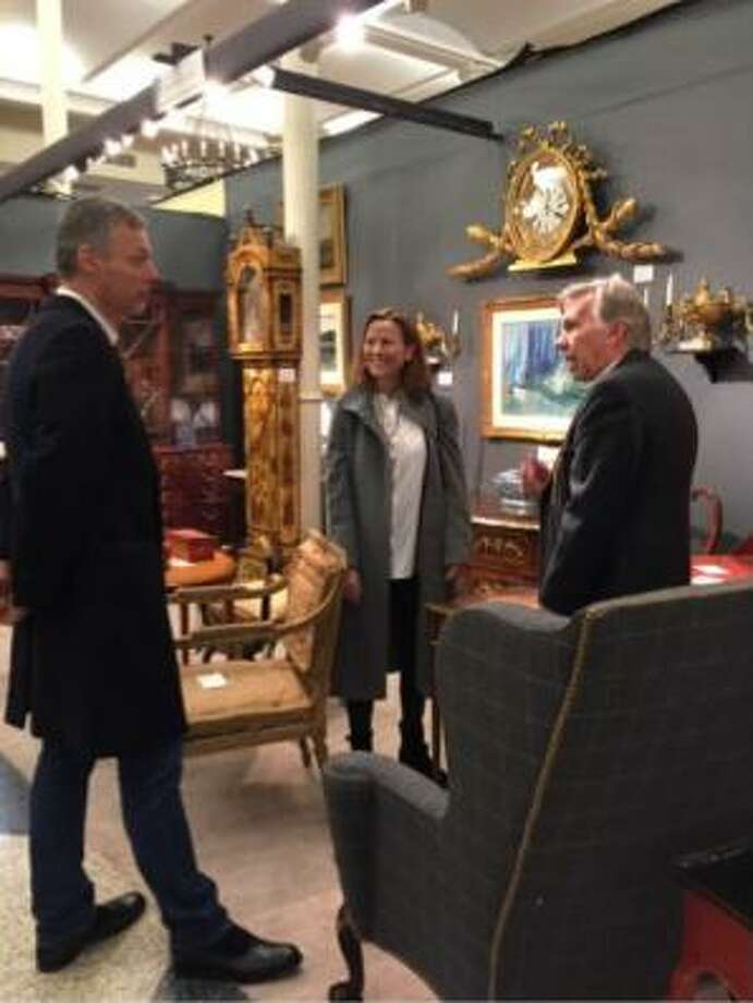 """Brad Reh, (not pictured), but owner of Brad and Vandy Reh Fine Jewelry on Elm Street, 'New Canaan, was show manager for the fifth annual """"Art, Design and Antiques Show,"""" at St. Ignatius Loyola Church in New York over the weekend. Photo: Contributed Photo"""