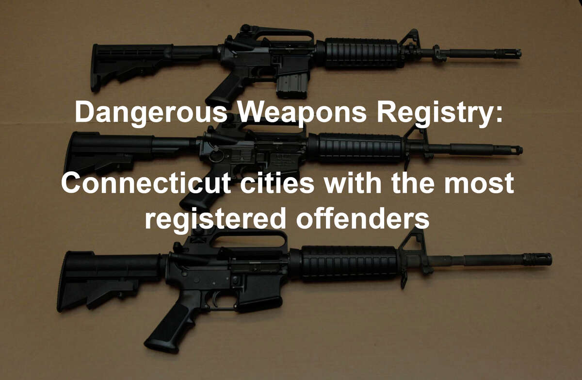 The Connecticut Deadly Weapon Offender Registry is a searchable way for the public to keep track of offenders, in a system similar to Connecticut's Sex Offender Registry. >> Click through to see the cities with the most registered offenders. Click here to see full Hearst exclusive report.