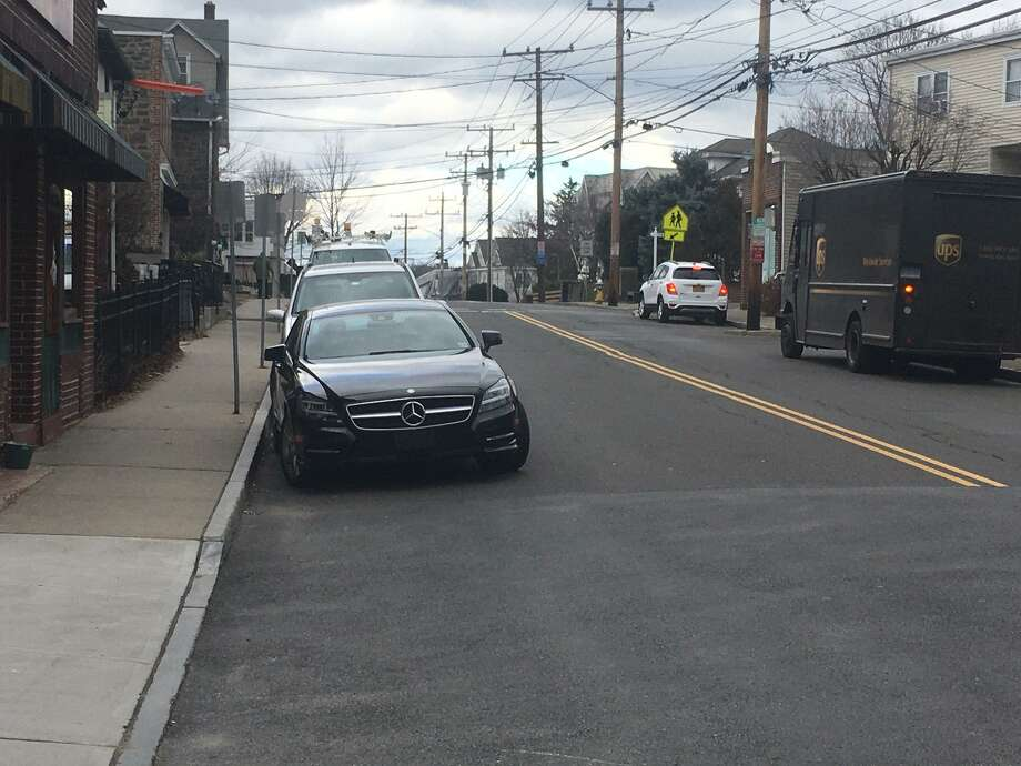 An 85-year-old pedestrian died after being struck by a vehicle on Hamilton Avenue. Photo: / Robert Marchant / Hearst Media