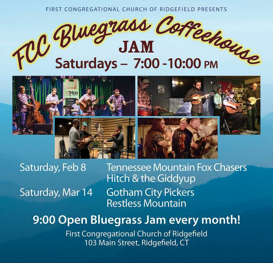 The community is invited to the next FCC Bluegrass Coffeehouse on Saturday, Feb, 8, at the First Congregational Church, 103 Main Street. Photo: Contributed Photo
