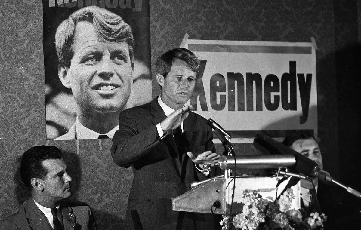 Robert F. Kennedy visits Chinatown on his way to Fisherman's Wharf on a campaign stop June 3, 1968 Presprimaries
