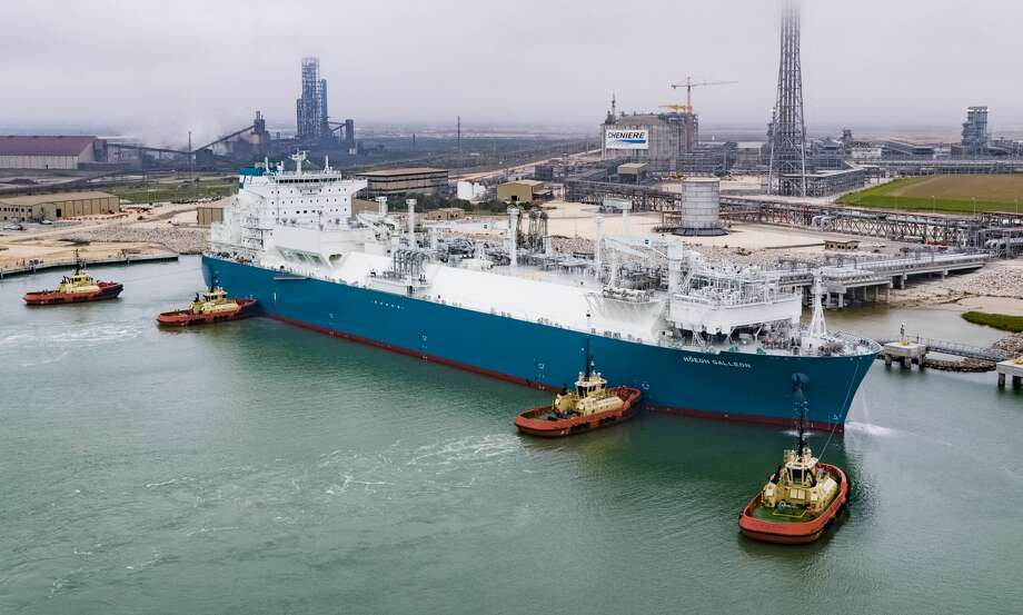 The Norwegian-flagged LNG tanker Hoegh Galleon left the Cheniere Energy's Corpus Christi LNG export terminal with the company's 1,00th cargo on Monday morning. The company's CEO Jack Fusco told the Houston Chronicle that the tanker is headed to France and that the milestone shipment comes less than four years after the company's first cargo was sent out from Sabine Pass LNG in Louisiana in February 2016.   Photo: Cheniere Energy