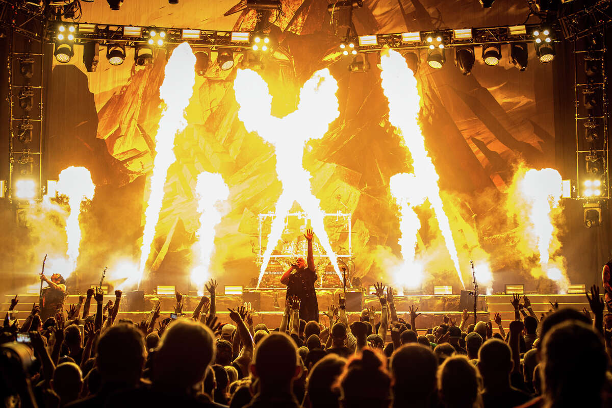 Disturbed, shown playing at Saratoga Performing Arts Center in 2016, is slated to return to SPAC this summer.
