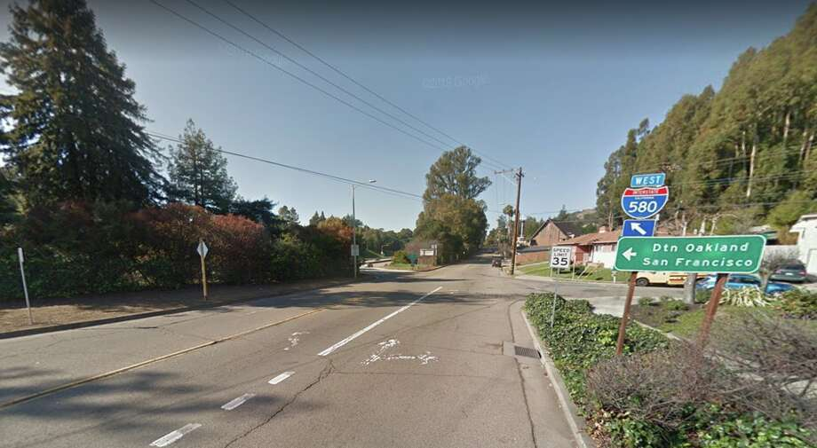 A man was struck by gunfire while traveling on eastbound Highway 580 near Keller Avenue at 9:53 a.m. Monday, according to the California Highway Patrol. Photo: Google Maps