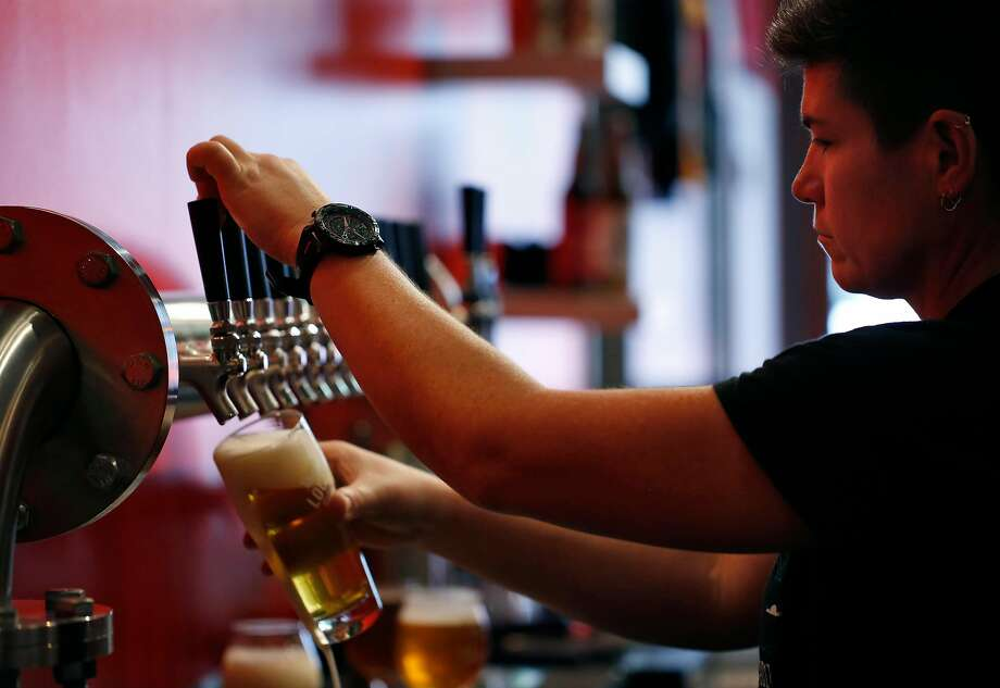 Regan Long, owner-brewmaster at Local Brewing in S.F., makes several lagers, and a special one for Beer Week. Photo: Leah Millis / The Chronicle 2017