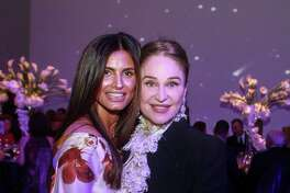 EMBARGOED FOR SOCIETY REPORTER UNTIL JAN 30. Sabiha Rehmatulla, left, and Becca Cason Thrash at the Art of the Islamic World Gala at Museum Fine Arts Houston on January 24, 2020.