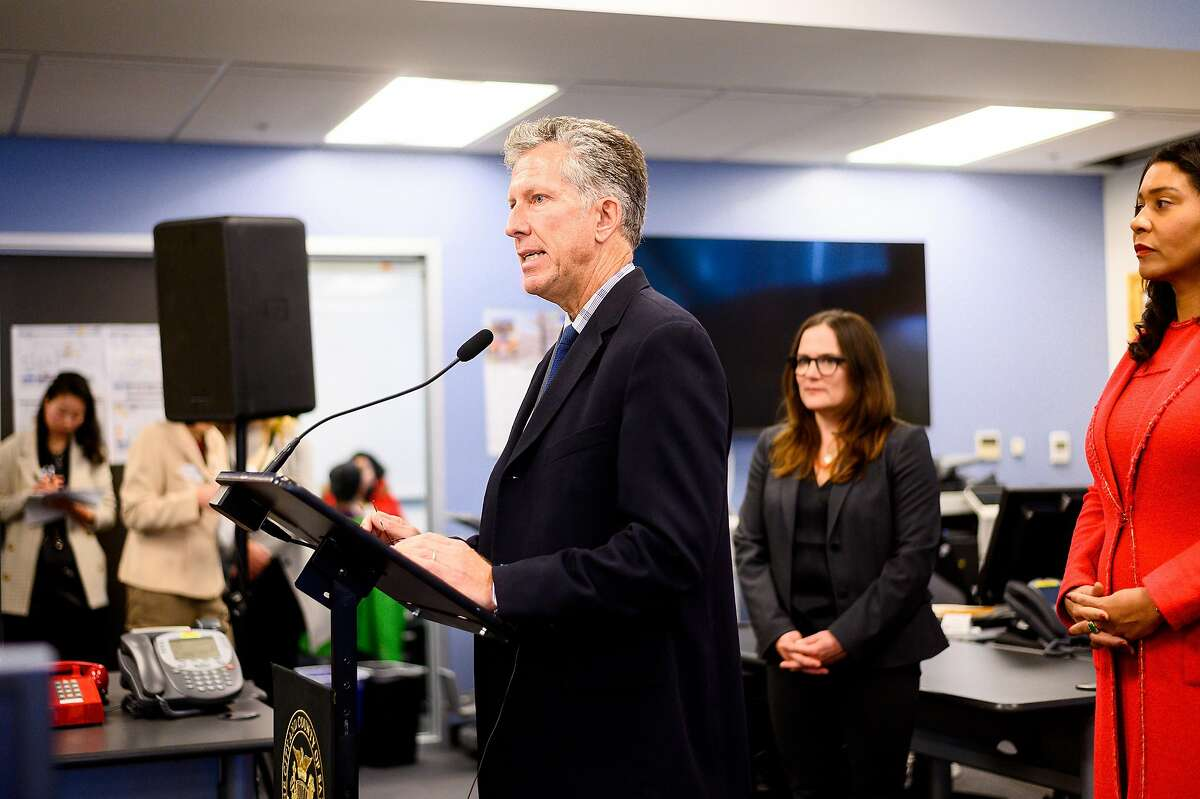 San Francisco International Airport Director Ivar Satero discusses the coronavirus during a press conference at the San Francisco Department of Emergency Management headquarters on Monday, Jan. 27, 2020, in San Francisco.
