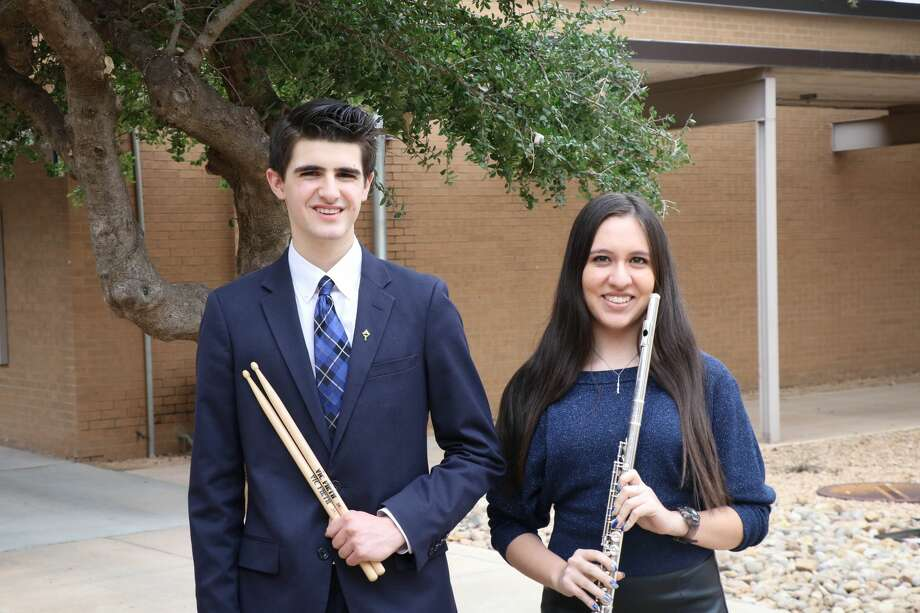 Junior Mitchell Sharum, left, and senior Nikkie Galindo will be performing in the All-State Band at the Texas Music Educators Association Convention next month. This is Galindo's fourth year to be selected. Photo: Courtesy Photo