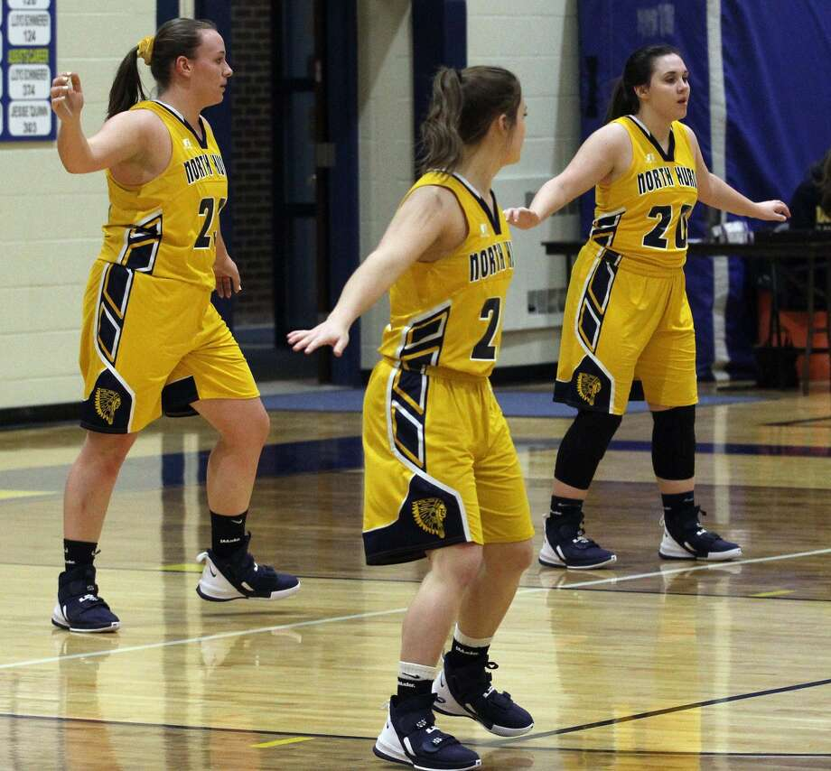 The North Huron girls basketball team ran into a tough Peck squad on Monday night. The Pirates won, 52-14. Photo: Tribune File Photo