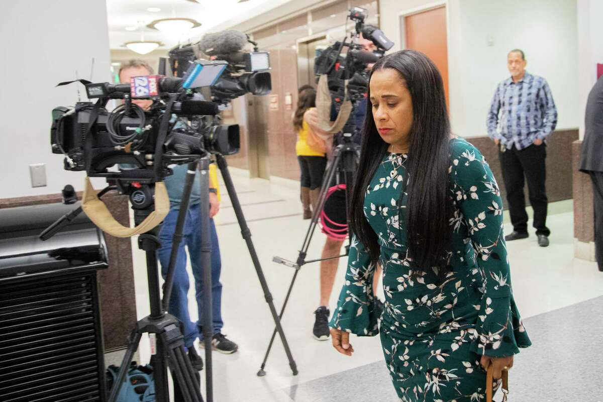 Dahlia Mack the mother of Delindsey Dwayne Mack on Thursday, Jan. 23, 2020, at the Harris County Juvenile Court in Houston. Delindsey Mack who was a Lamar High School was killed in 2018.