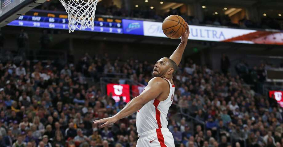 Houston Rockets guard Eric Gordon (10) goes to the basket following the whistle after a foul in the first half during an NBA basketball game against the Utah Jazz, Monday, Jan. 27, 2020, in Salt Lake City. (AP Photo/Rick Bowmer) Photo: Rick Bowmer/Associated Press