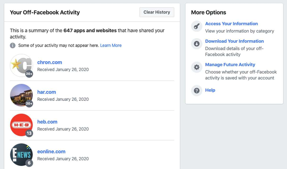 Facebook on Jan. 28, 2020, rolled out newprivacy controls that let its users manage data from off Facebook.