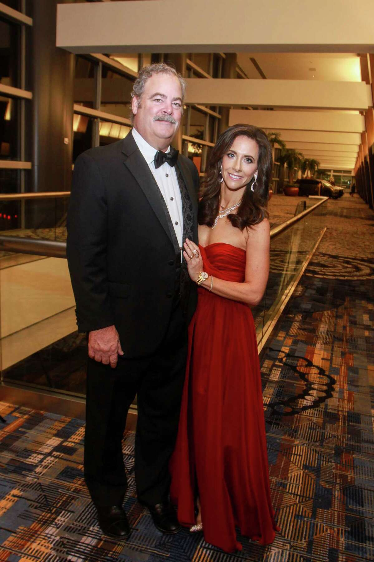 Cal McNair and honoree Hannah McNair at the Winter Ball benefiting the Crohn and Colitis Foundation on January 25, 2020 at the Hilton Americas Houston.
