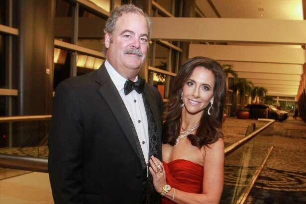 EMBARGOED FOR SOCIETY REPORTER UNTIL JAN 30. Cal McNair and honoree Hannah McNair at the Winter Ball benefiting the Crohn and Colitis Foundation on January 25, 2020 at the Hilton Americas Houston.