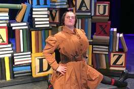 """Eric Jensen, 18, says he's having to """"break out of my comfort zone"""" to portray the formidable Miss Trunchbull in Friendswood High School's production of """"Matilda the Musical."""""""