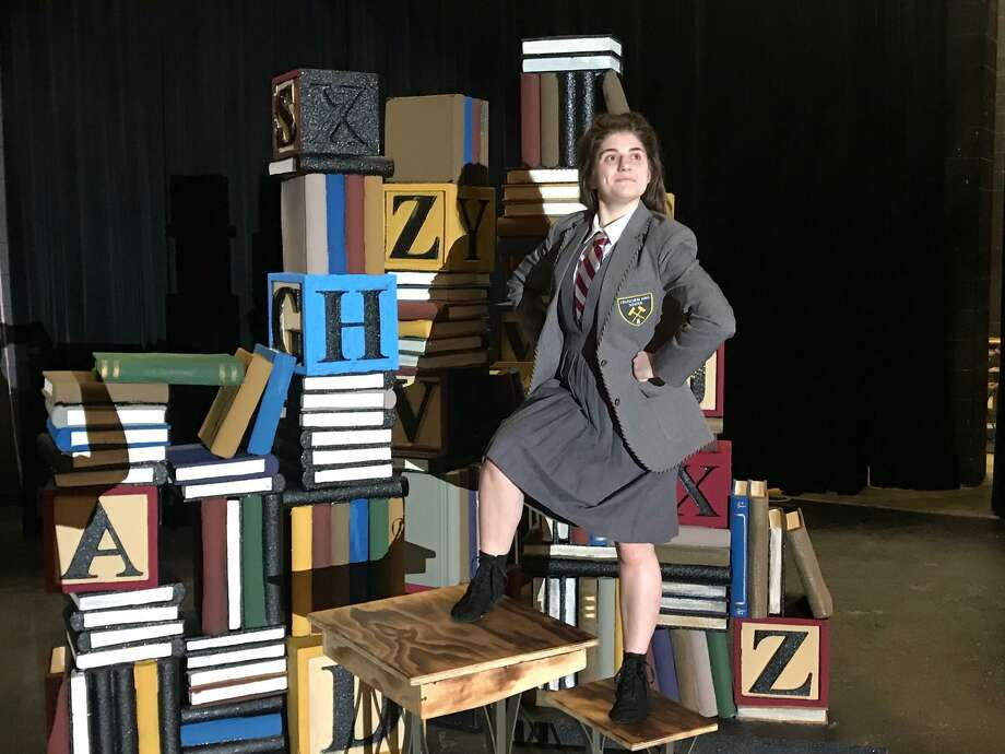 Taylor Greny, 17, tackled the title role of 5-year-old Matilda. She's been nominated for a best actress award. Photo: Friendswood High School