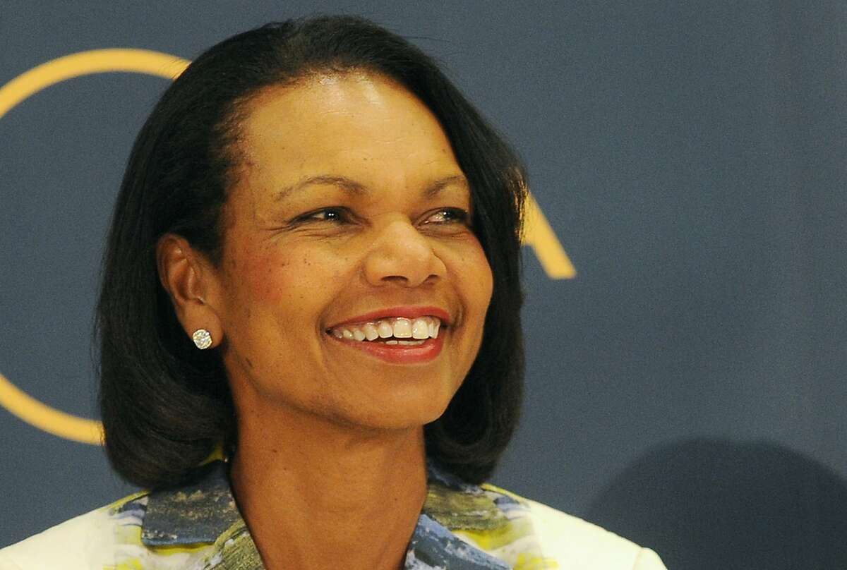Former U.S. Secretary of State Condoleezza Rice attends a public debate on democracy and the aftermath of the British departure from the EU, in Warsaw, Poland, Wednesday, June 29, 2016. (AP Photo/Alik Keplicz)
