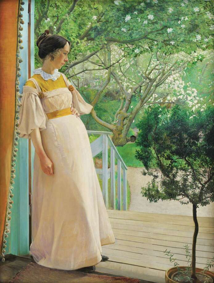 """""""At the French Windows: The Artist's Wife"""" by L.A. Ring will be on display atthe Bruce Museum's exhibit """"On the Edge of the World: Masterworks by Laurits Andersen Ring from the Danish National Gallery"""" runs Feb. 1 through May 24. Photo: Contributed Photo /"""