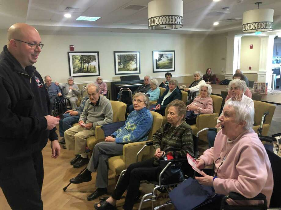 Joe Laucella of Echo Hose Ambulance Corps offered first aid training to residents at Brightview Shelton on Tuesday, Jan. 21. Photo: Contributed Photo / Connecticut Post