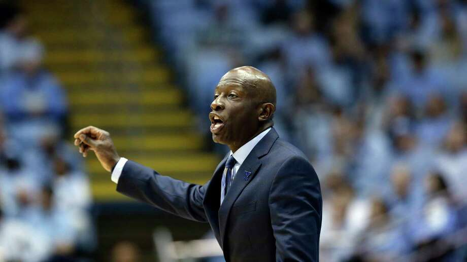 Yale head coach James Jones reacts during the first half of an NCAA college basketball game against North Carolina in Chapel Hill, N.C., Monday, Dec. 30, 2019. Photo: Gerry Broome / Associated Press / Copyright 2019 The Associated Press. All rights reserved