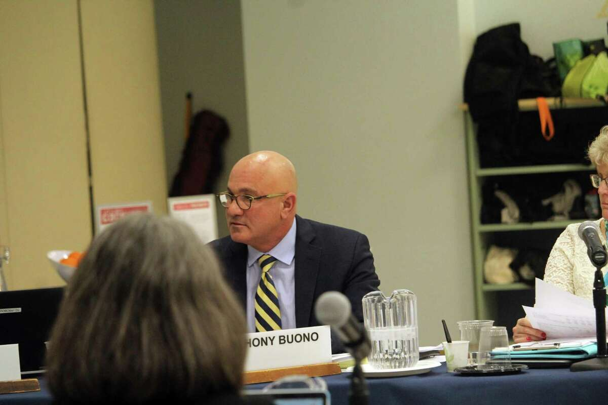 Assistant Superintendent Anthony Buono speaks at a BOE meeting on Monday. Taken Jan. 27, 2020 in Westport, Conn.
