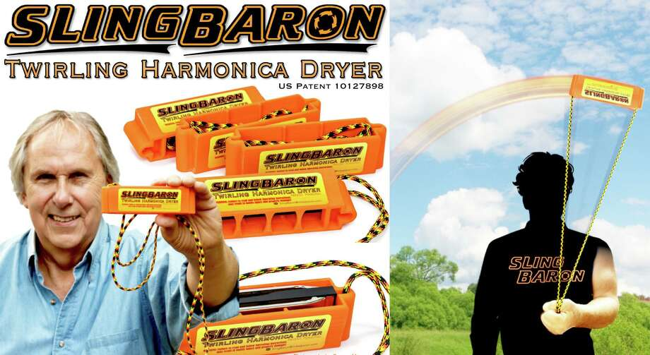 Middletown native, folk singer and harmonicist Mike J. Baron, 72, was recently approved for a U.S. patent for a unique device he invented for drying harmonicas, which, he said, will prolong the life of the musical instrument. Photo: Contributed Photo