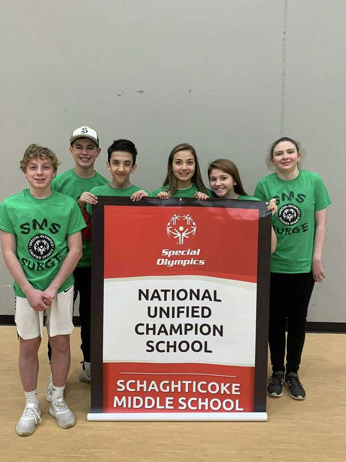 Schaghticoke Middle School was one of six Connecticut schools named a Special Olympics National Unified Champion School. Photo: Contributed Photo / Mayor Pete Bass' Facebook Page