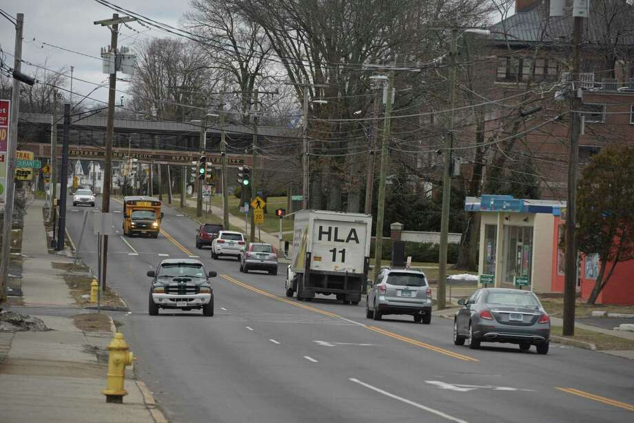 Looking down White Street to its intersection with Eighth Avenue. The City of Danbury is planning improvements to a number of areas of White Street. Tuesday, January 28, 2020, in Danbury, Conn. Photo: H John Voorhees III / Hearst Connecticut Media / The News-Times
