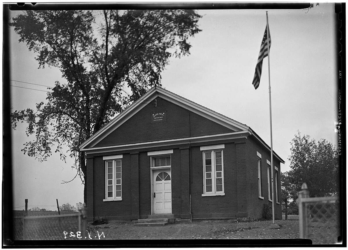 The Little Red Schoolhouse on Rt. 4 in North Greenbush in 1933. Photo from Historic American Buildings Survey, by C. & Garfield.