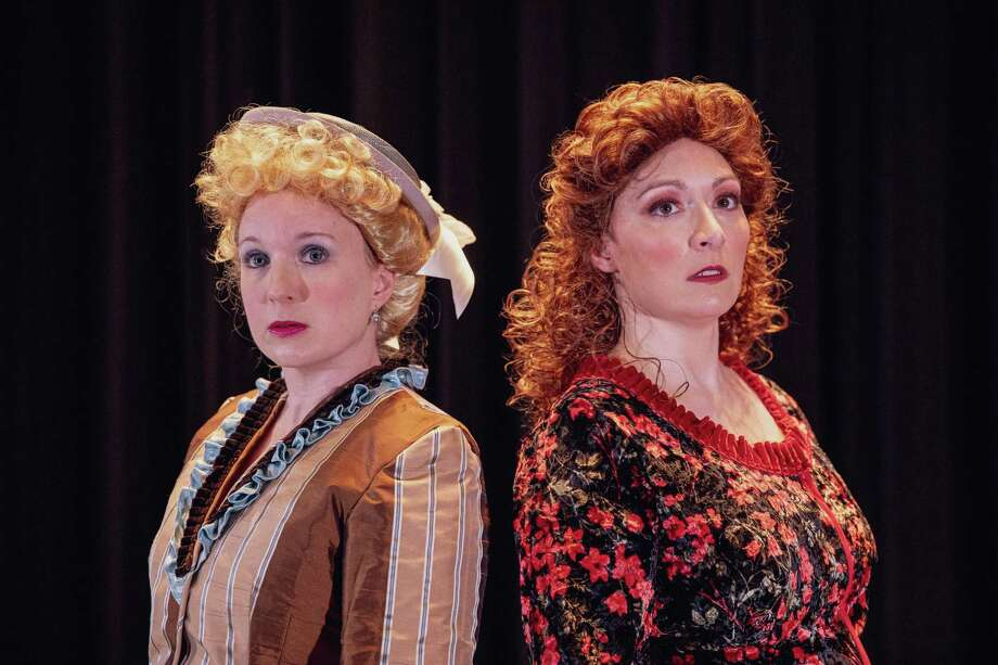 """The Warner Stage Company's production of """"Jekyll & Hyde"""" opens Saturday night, with performances continuing on weekends through Feb. 9. Pictured are Marcia Maslo and Roxie Quinn. Photo: Luke Haughwout /Contributed Photo /"""