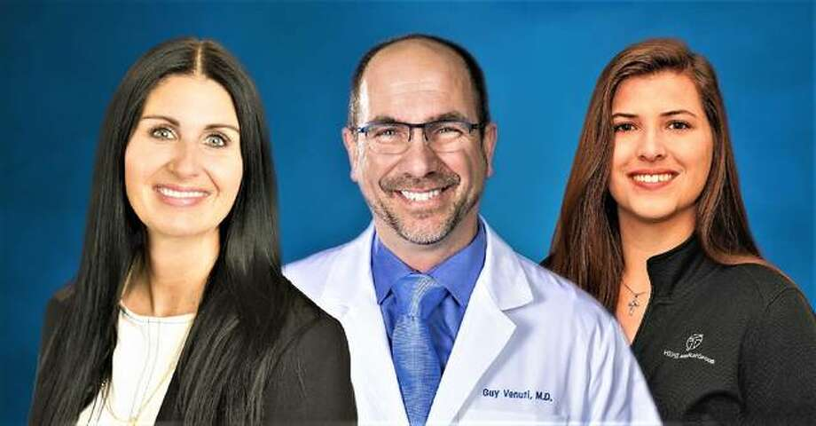 Pictured, from left, are Stacey Brummer, Dr. Guy Venuti and Amber Ford