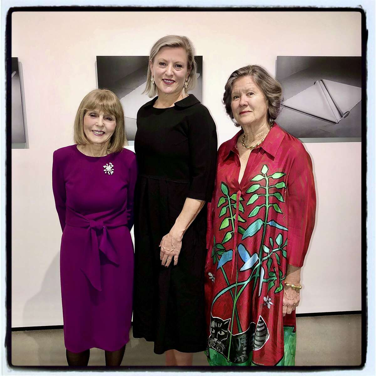 Manetti Shrem Museum gala honorees (from left) Constance Lewallan, Carlie Wilmans and Ann Hatch. Jan. 25, 2020.