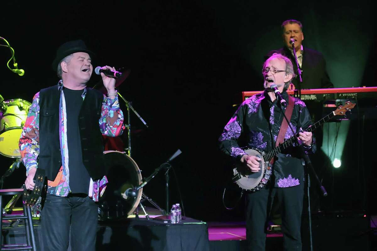 Micky Dolenz and Peter Tork of The Monkees perform in concert at Harrah's Resort in 2016 in Atlantic City, New Jersey. Tork died in February 2019.