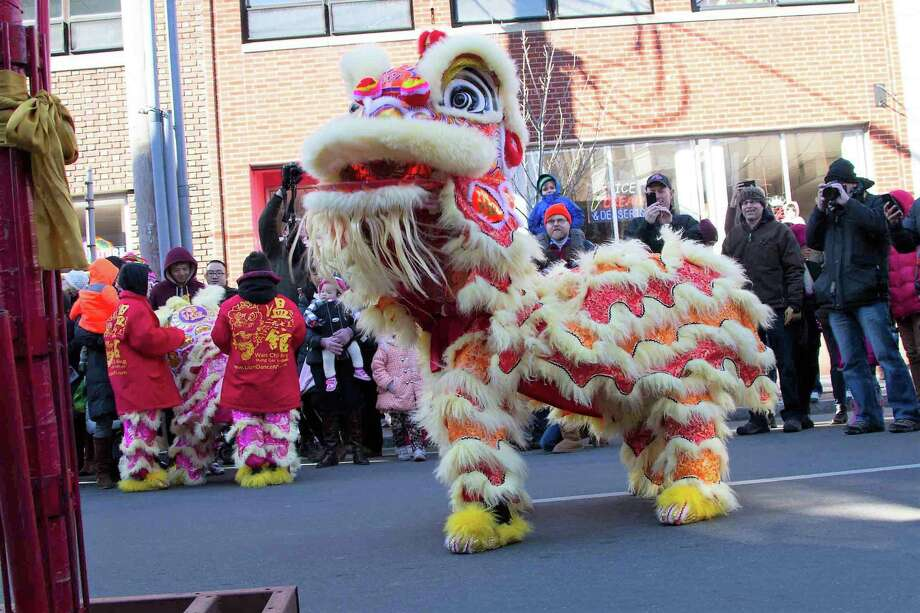 The lion dance as seen in 2017 at Lunarfest. Photo: Yale-China Association / Contributed Photo