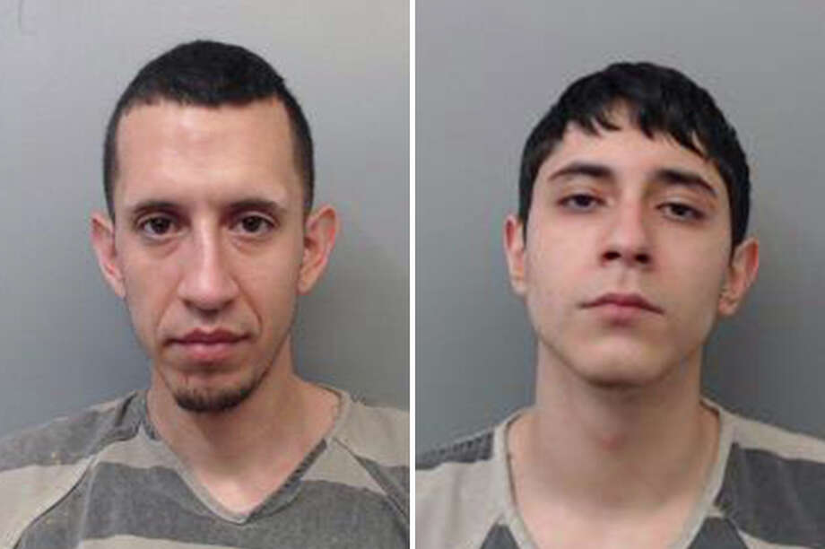 Two men were arrested accused of taking a male's vehicle by force, authorities said. Photo: Courtesy