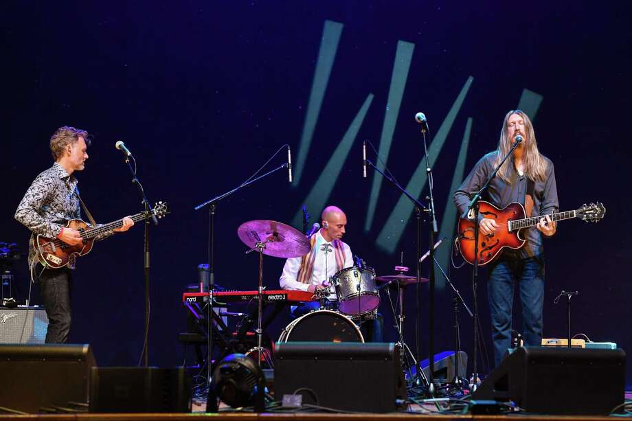 Chris Wood, Jano Rix and Oliver Wood of The Wood Brothers, shown in Nashville last year, will perform at College Street Music Hall Feb. 7. Photo: Erika Goldring / Getty Images / 2019 Erika Goldring
